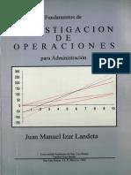 Investigacion de Operaciones Juan Manuel Izar Landeta