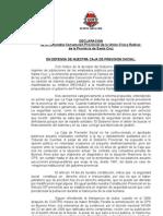 CAJA DE PREVISION SOCIAL. declaración Convencion UCR septiembre 2010