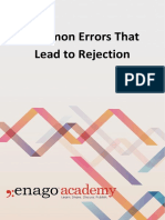 Common Errors That Lead to Rejection