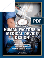 Matthew Bret Weinger, Michael E. Wiklund, Daryle Jean Gardner-Bonneau-Handbook of Human Factors in Medical Device Design -CRC Press (2010)