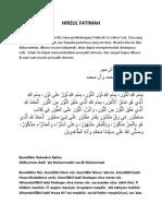Hirzul Fatimah