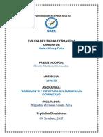 Tarea 6, De Fundamento y Estructura Del Curriculo.