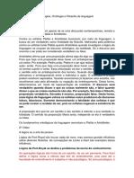 NT 2.3 - Ensino de Lógica, Ontologia e Filosofia da linguagem.docx
