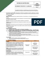Ginf-pg-01 Mantenimiento y Calibración