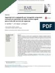 Seguridad de la angiografía por tomografía computada coronaria en pacientes con dolor torácico agudo para el alta del servicio de urgencias