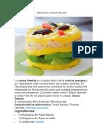 Peruvian Causa Recipe