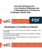 Effectiveness of Ceftriaxone and N-Acetylcysteine on Nicotine Withdrawal and Nicotine-Induced Reinstatement of Preference in Sprague–Dawley Rats Powerpoint