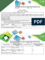 Guía de Actividades y Rúbrica de Evaluación-Fase 1-Presaberes