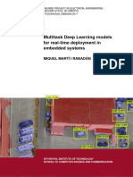 Multitask Deep Learning Models for Real-time Deployment in Embedded Systems