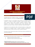 Guía Perfil e Informe Final de Proyecto de Grado
