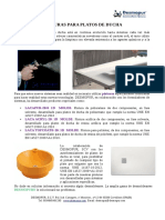 Catálogo de DESMOPUR, SCV de productos para Platos de Ducha.