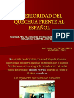 Superioridad Del Quechua Frente Al Español