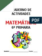 Cuaderno Actividades Matematicas 6