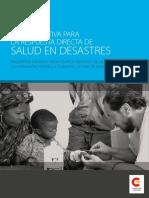 Guía Operativa Para La Respuesta Directa de Salud en Desastres