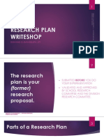 Writeshop - Research Plan