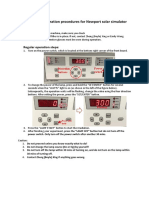 instruction solar simulator