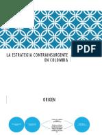 Estrategia Contrainsurgente en Colombia
