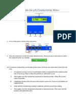 user guide for ph meter