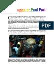 Golguppa or Pani Puri
