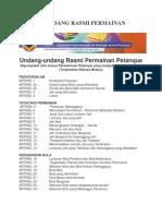 Undang Undang Petanque