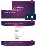 Role of Grammar Teaching Under