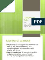 Step 2 Language Arts INDICATOR 2