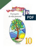 10 Grado - Caminos de Fe - El Proyecto de Vida Personal