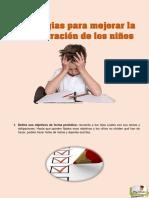 Estrategias para mejorar la concentración de los niños pdf
