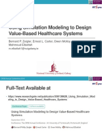 Using Simulation Modeling to Design Value-Based Healthcare Systems