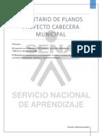 Inventario de Planos Proyecto Cabecera Municipal