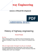 History of Road