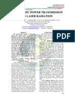 Electric Power Transmission as Laser Radiation