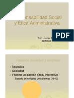 Responsabilidad Social y Etica Administrativa