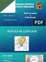 Nivel de Lenguaje y Funcion Del Texto