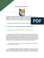 Antroponimia de Comunidades Mapuches