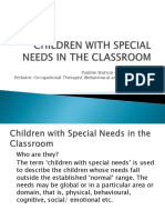 Children With Special Needs in the Classroom