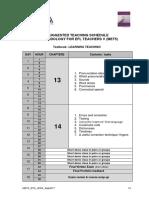 MET5 Suggested Teaching Schedule