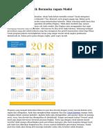 Cetak Kalender Unik Beraneka ragam Model
