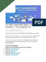 101 Best Leadership Skills