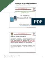 Programación de obras Expediente Técnico