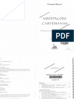 Edmund Husserl Meditacoes Cartesianas Introducao a Fenomenologia