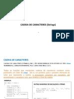 CAP7 PROGI Cadeia de Caracteres