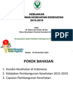 Bahan Kebijakan Kesehatan by Dr Retno