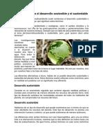 Diferencias Entre El Desarrollo Sostenible y El Sustentable