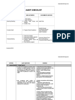 Audit Checklist 5 Management Commitment & Responsibility
