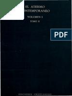 GIRARDI, G. (Dir), El Ateismo Contemporaneo. Volumen I. El Ateismo en La Vida y en La Cultura Contemporanea. Tomo II. Madrid, 1971