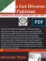 Famous Divorce Lawyer For Divorce In Pakistan