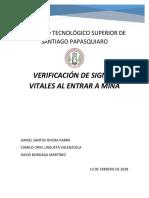 VERIFICACIÓN DE SIGNOS VITALES