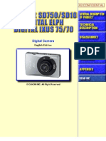 CANON PowerShot SD10, PowerShot SD750, Digital Elph, Digital Ixus 70, 75 Service Manual - NO PARTS LIST