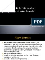 recuperare in hernia de disc posoperator si astm bronsic